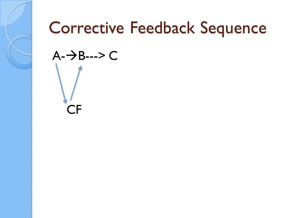 Corrective Feedback Sequence