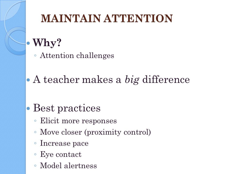 A teacher makes a big difference Best practices