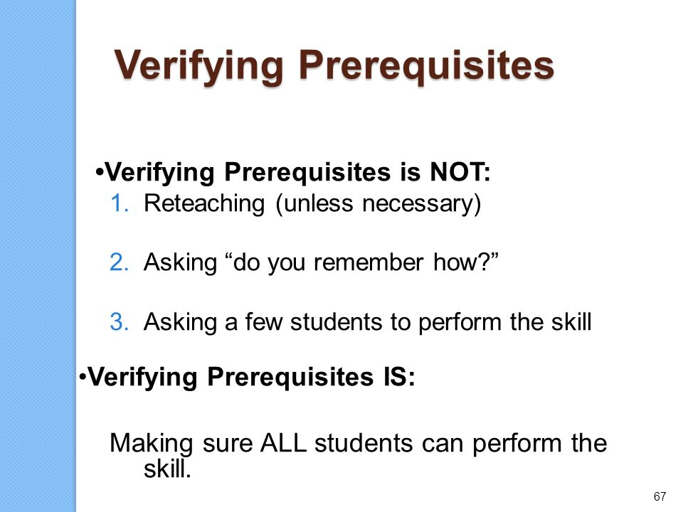 Verifying Prerequisites