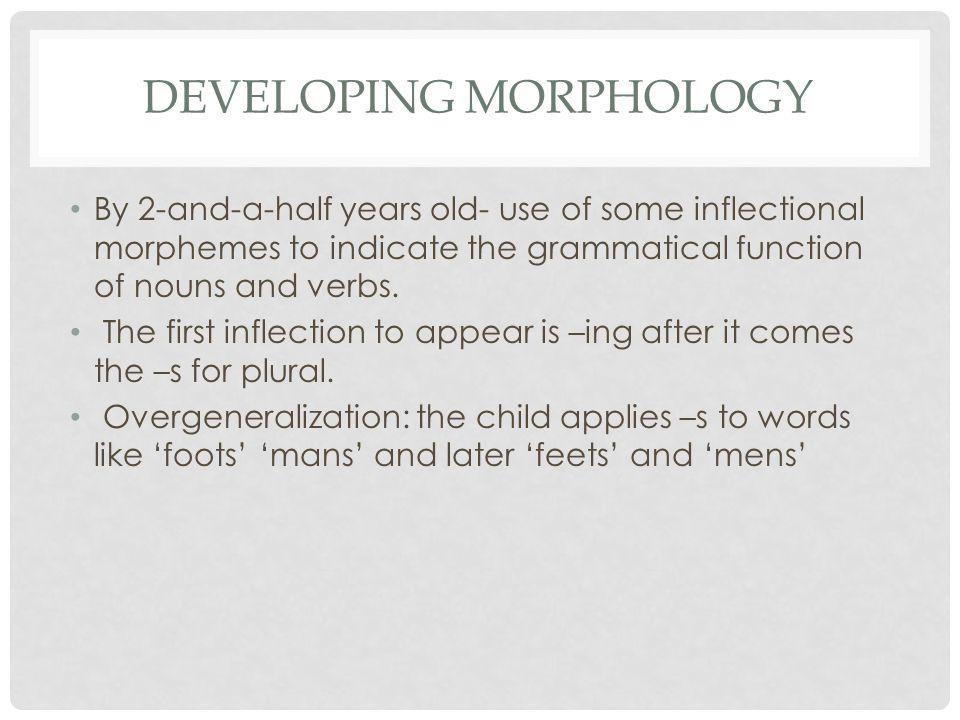 Developing Morphology