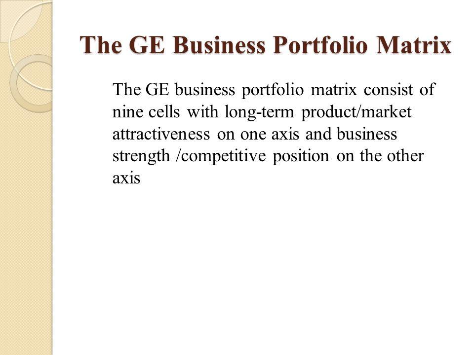 The GE Business Portfolio Matrix