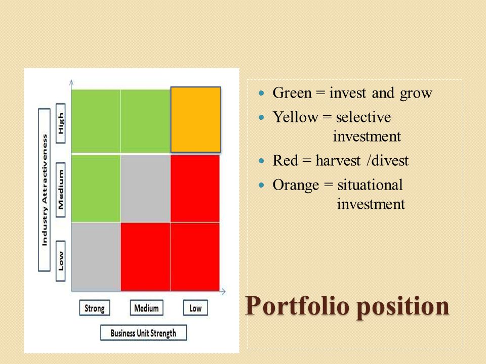 The GE Business Portfolio position