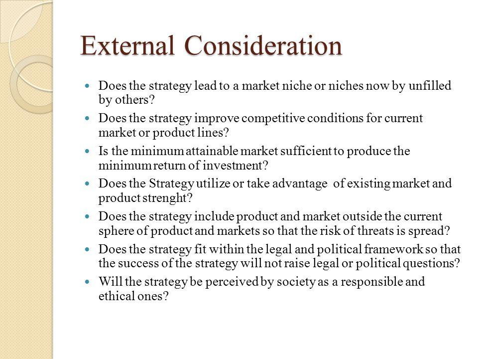 External Consideration