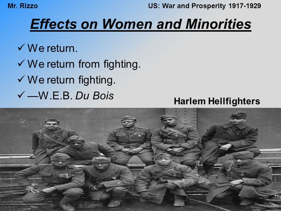 Effects on Women and Minorities