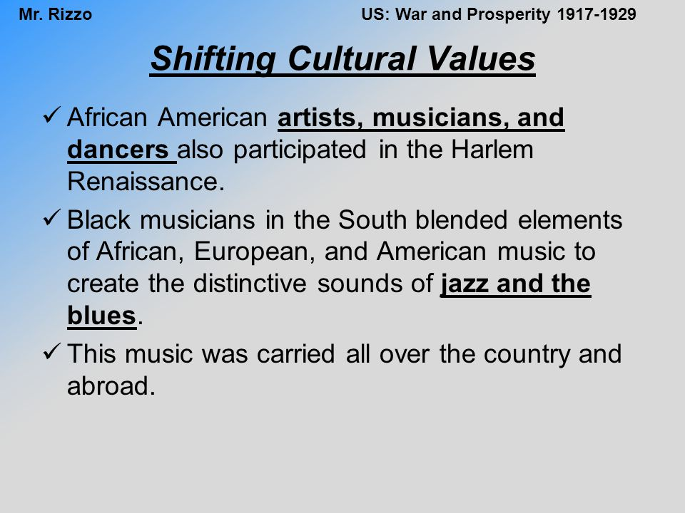 Shifting Cultural Values