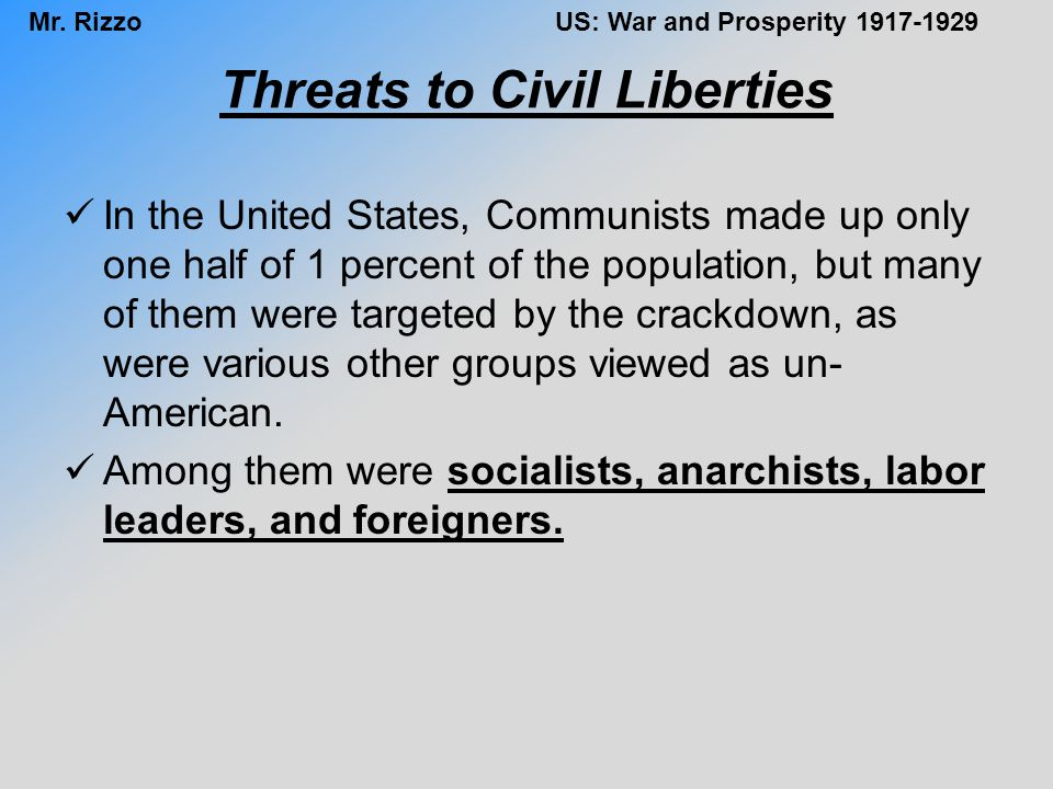 Threats to Civil Liberties