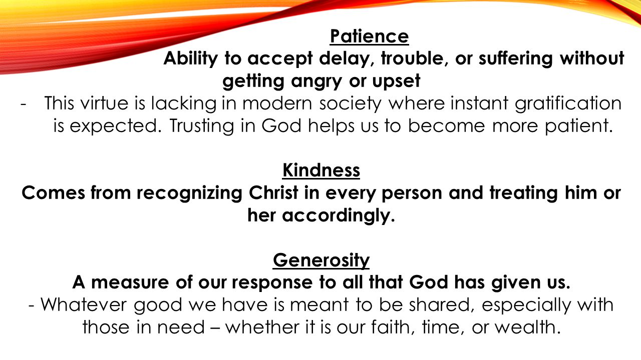 A measure of our response to all that God has given us.