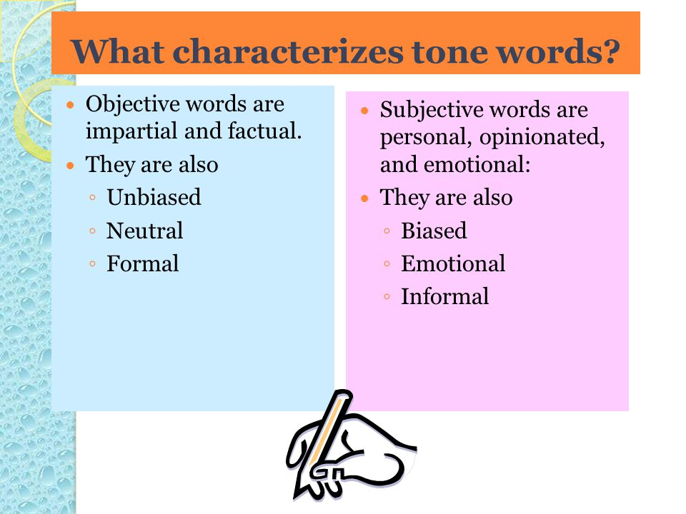 What characterizes tone words