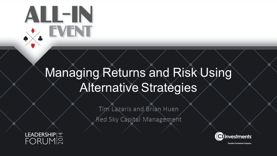 Managing Returns and Risk Using Alternative Strategies