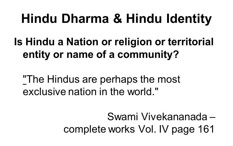 Hindu Dharma & Hindu Identity