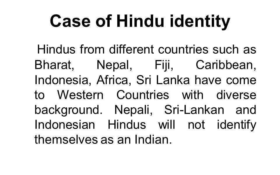Case of Hindu identity