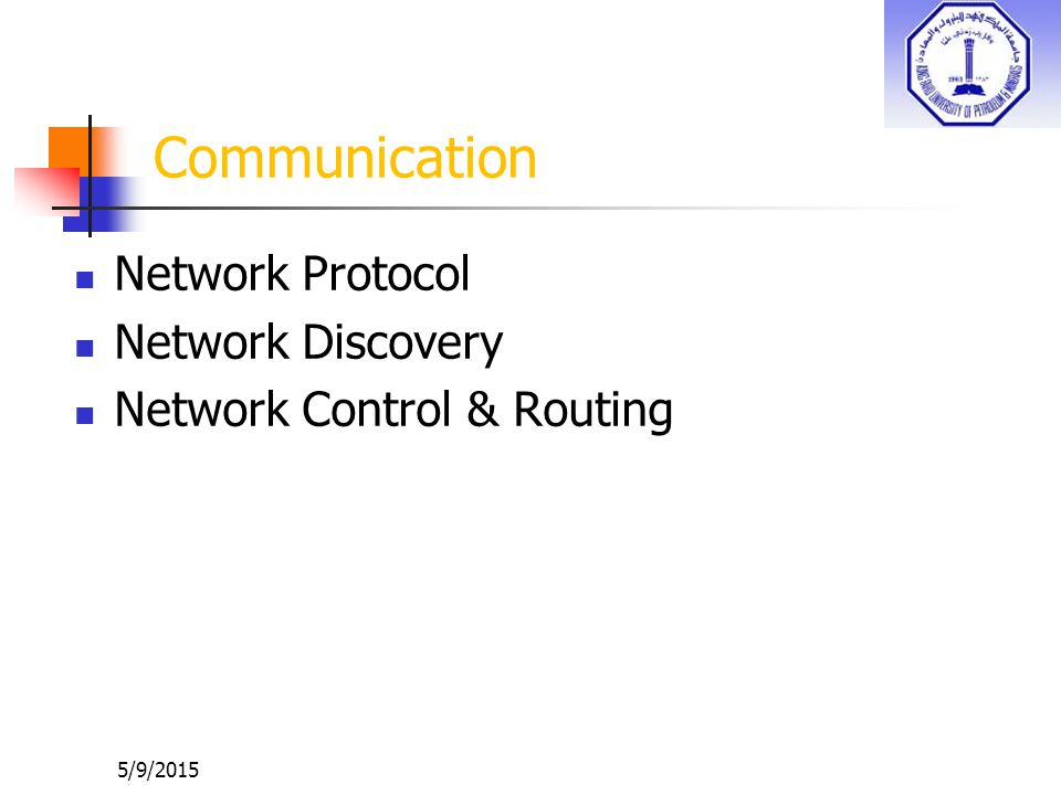 Communication Network Protocol Network Discovery