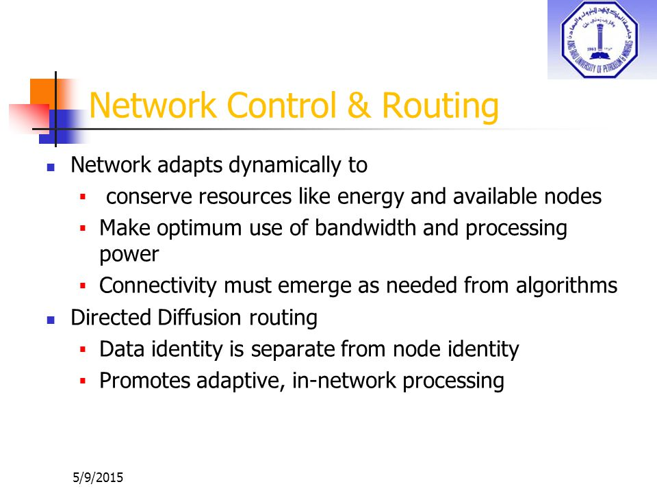 Network Control & Routing
