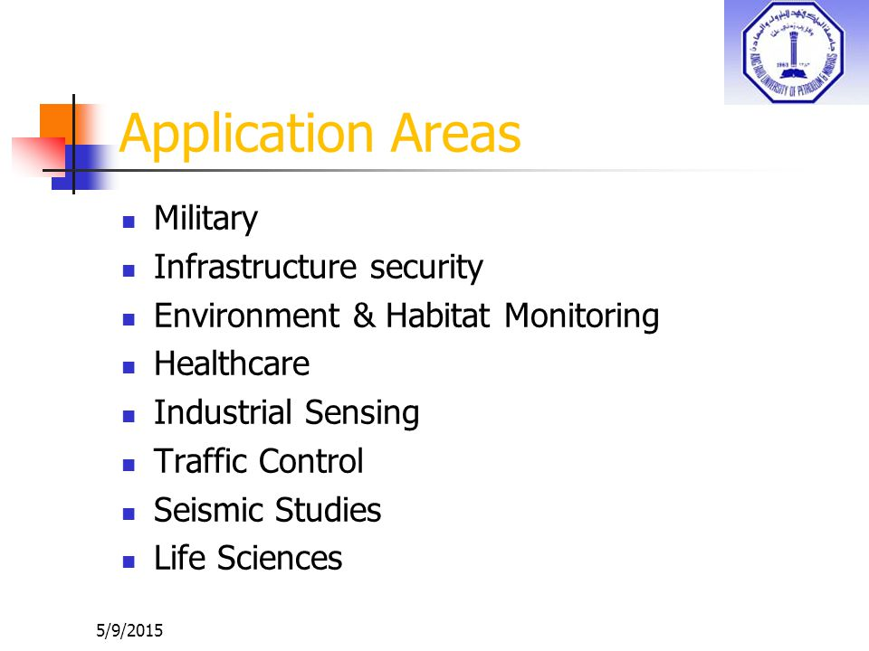 Application Areas Military Infrastructure security