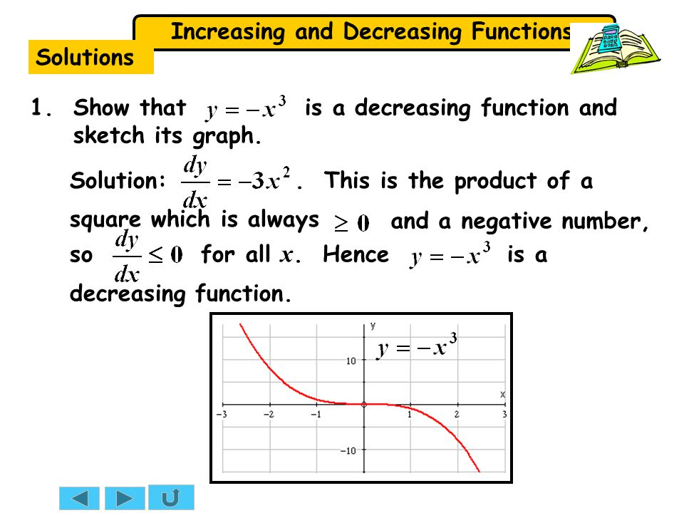 Solutions 1. Show that is a decreasing function and sketch its graph.
