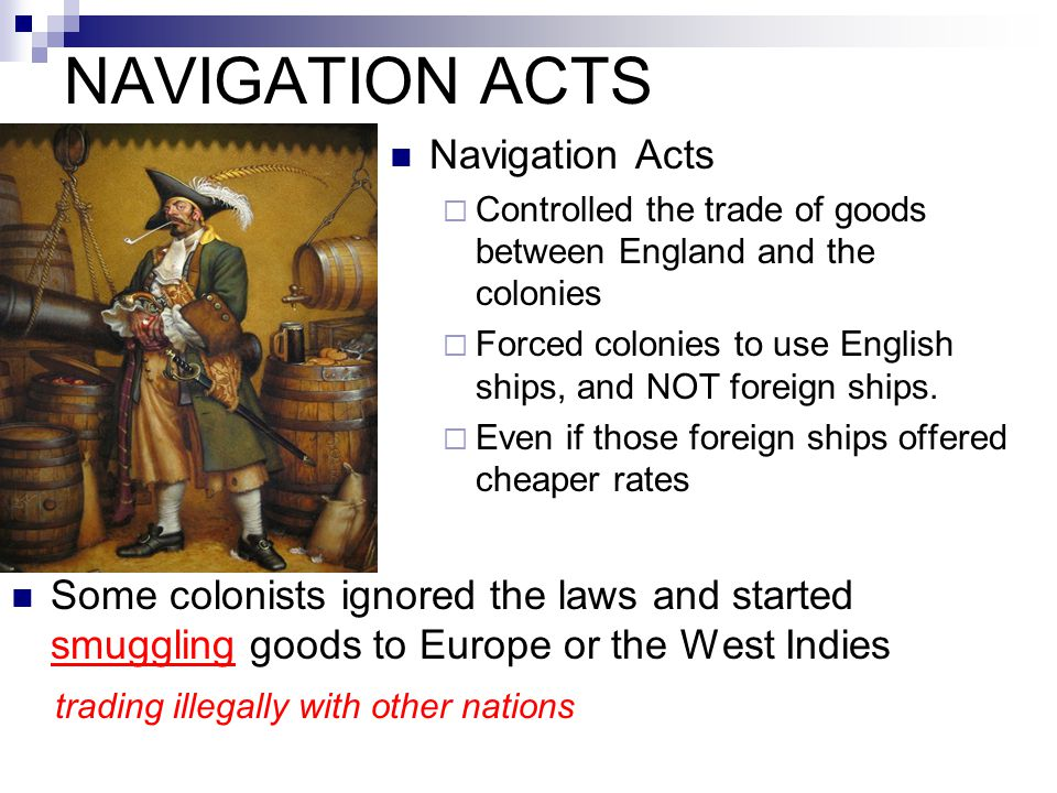 NAVIGATION ACTS Navigation Acts