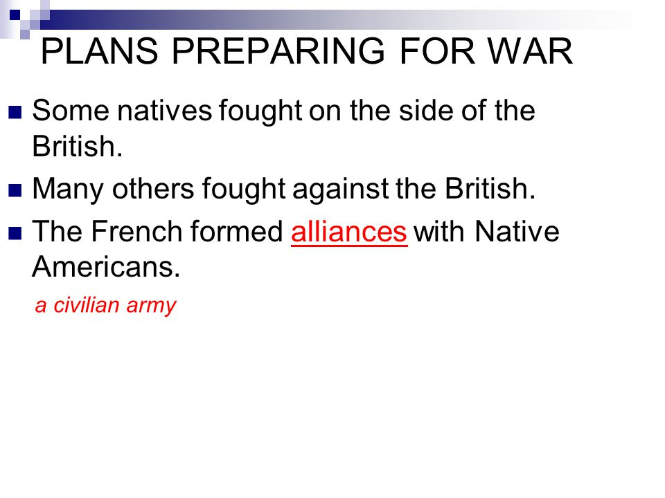 PLANS PREPARING FOR WAR