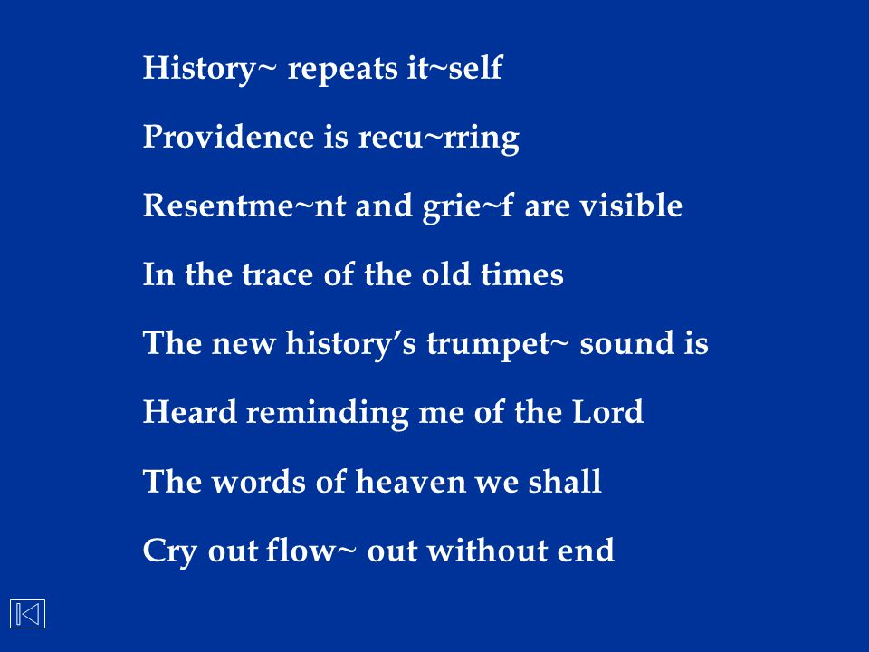 History~ repeats it~self