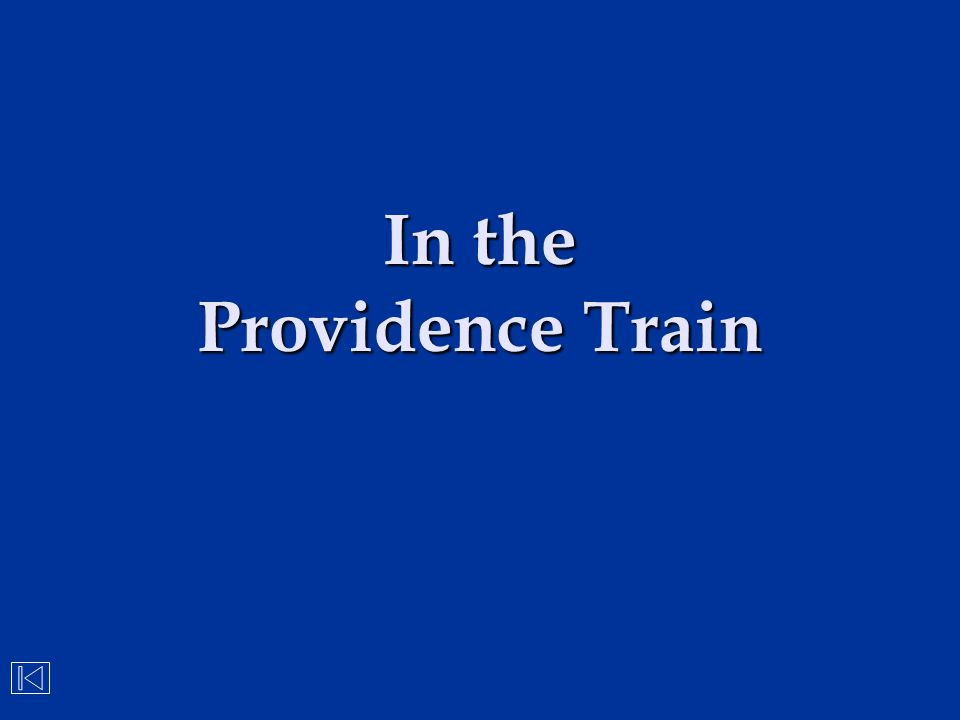 In the Providence Train