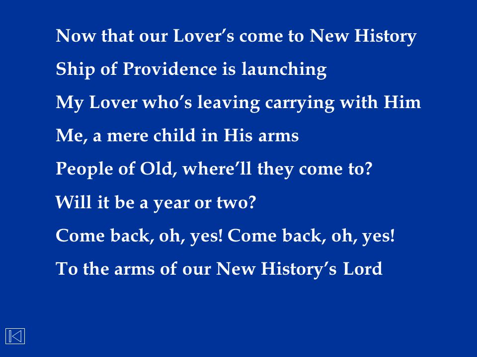 Now that our Lover's come to New History