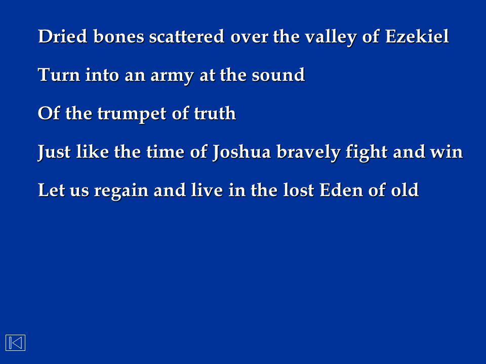 Dried bones scattered over the valley of Ezekiel