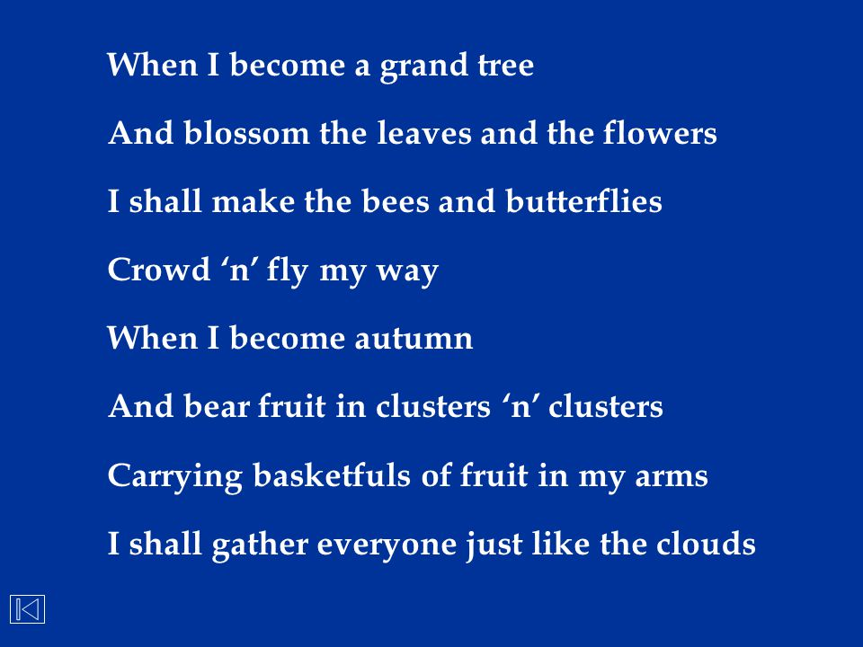 When I become a grand tree