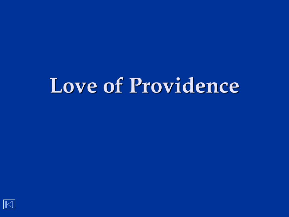 Love of Providence