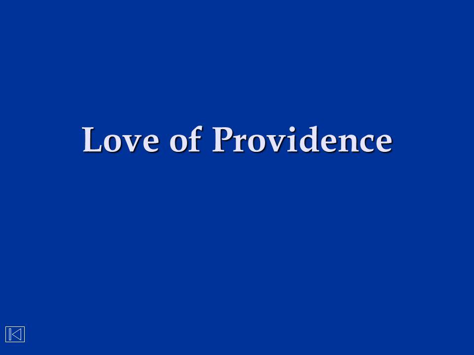 Love of Providence