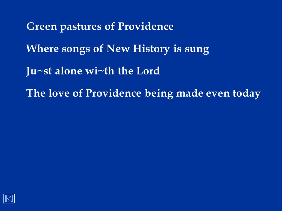 Green pastures of Providence