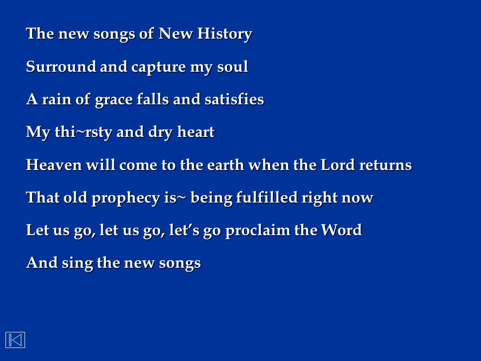 The new songs of New History