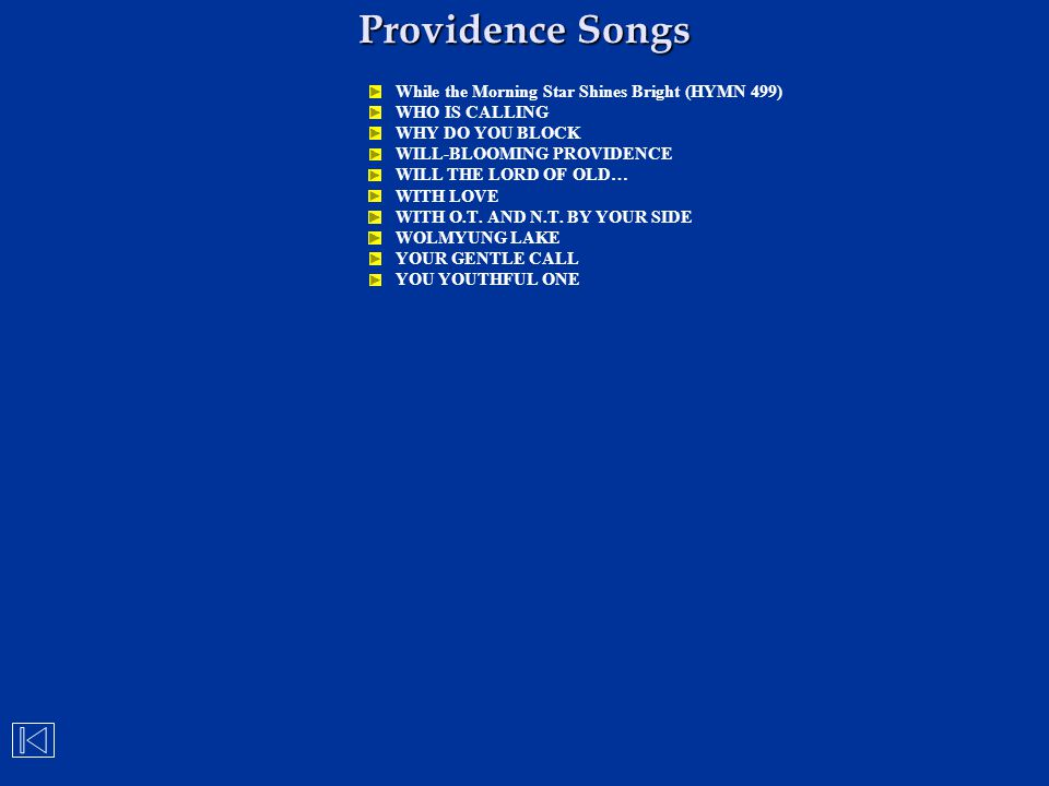 Providence Songs While the Morning Star Shines Bright (HYMN 499)