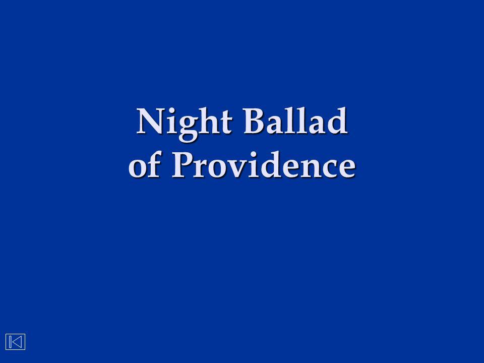 Night Ballad of Providence