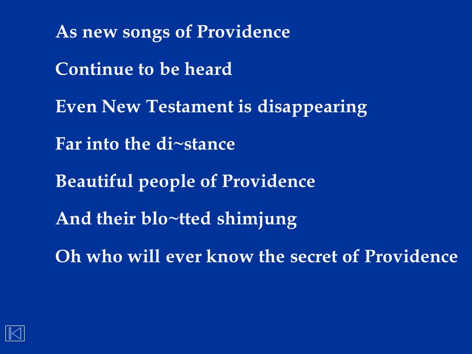 As new songs of Providence