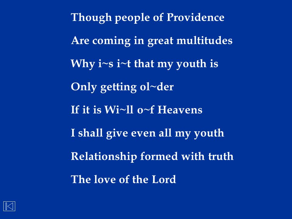 Though people of Providence