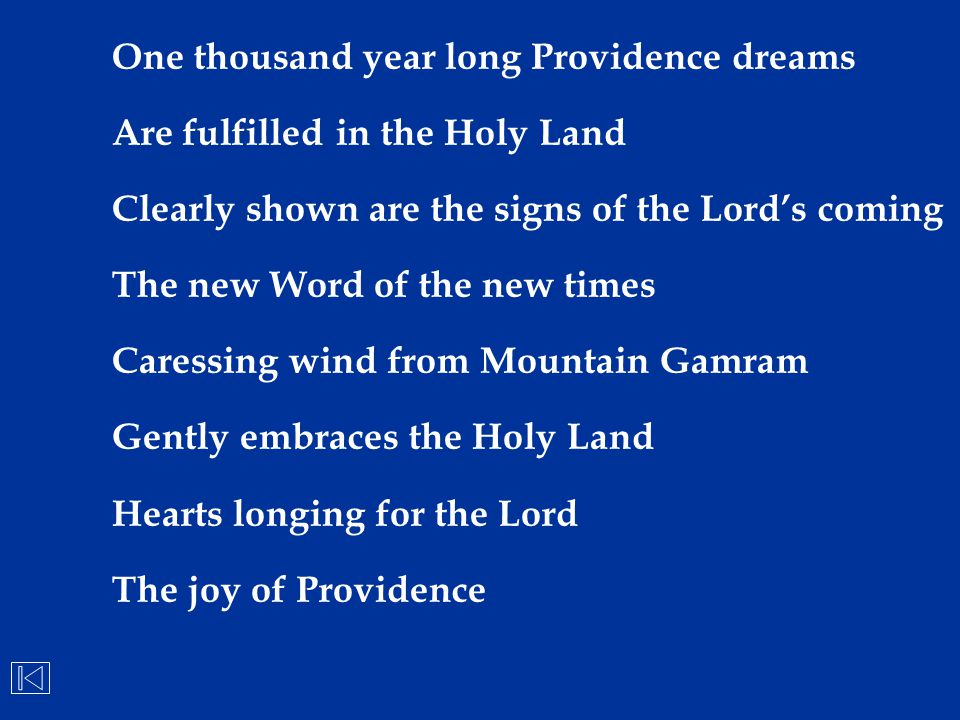 One thousand year long Providence dreams