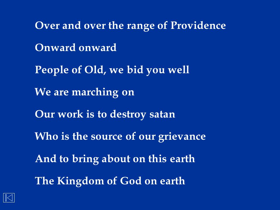 Over and over the range of Providence