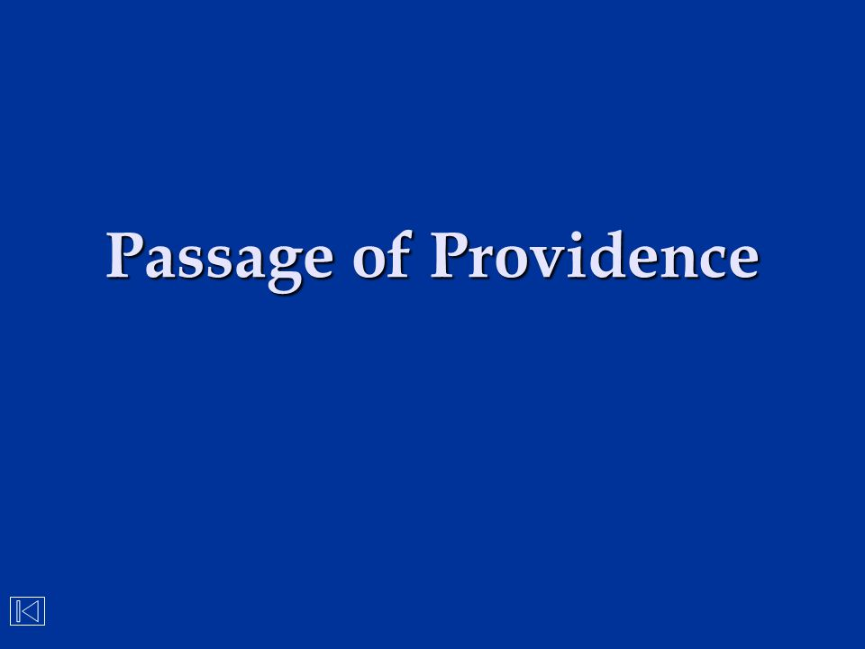 Passage of Providence