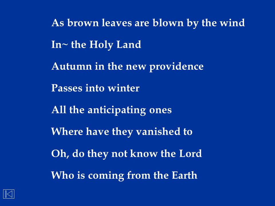 As brown leaves are blown by the wind