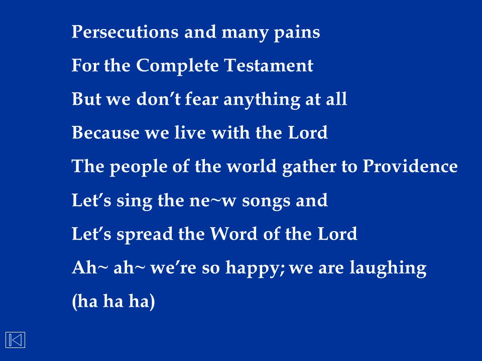 Persecutions and many pains