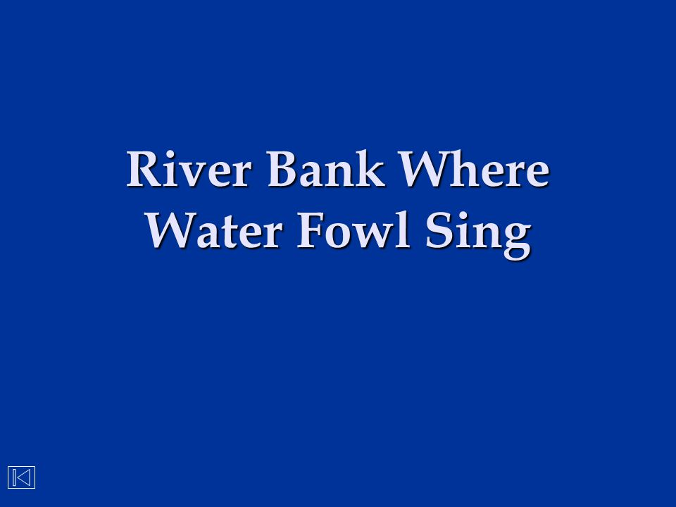 River Bank Where Water Fowl Sing