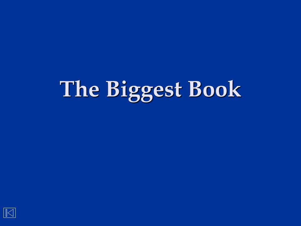 The Biggest Book
