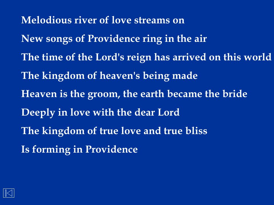 Melodious river of love streams on
