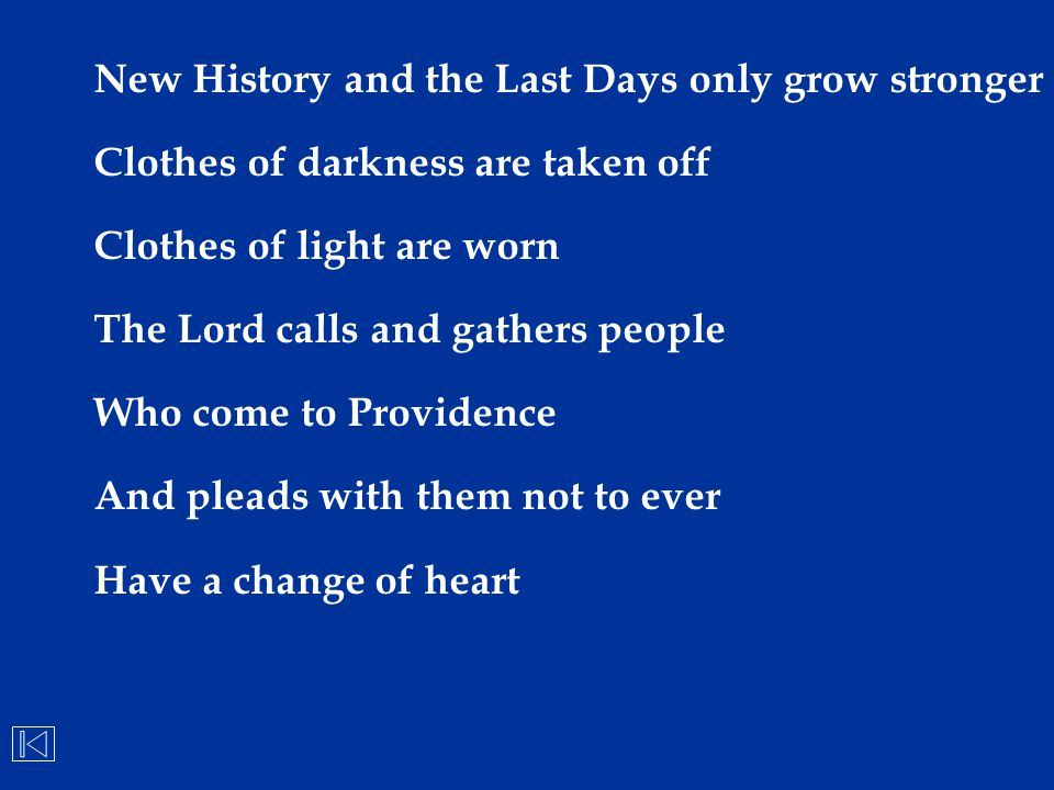 New History and the Last Days only grow stronger