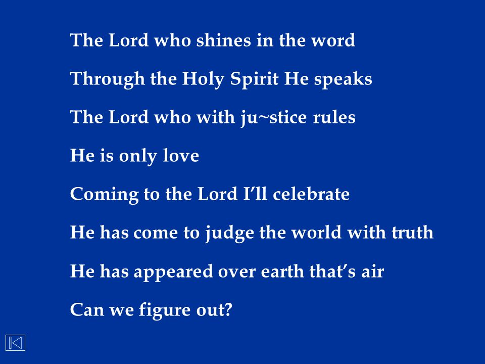 The Lord who shines in the word