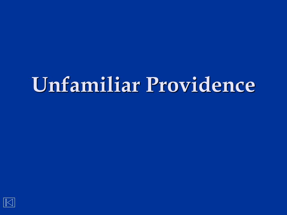 Unfamiliar Providence
