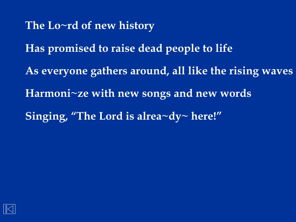 The Lo~rd of new history