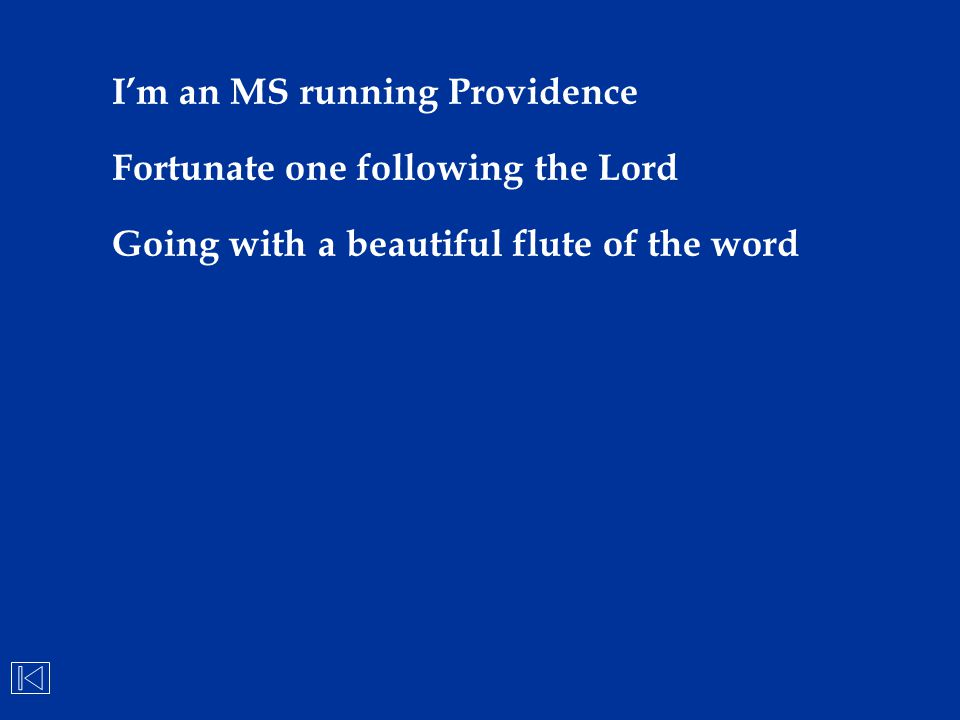 I'm an MS running Providence