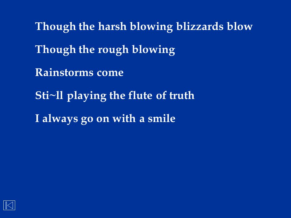 Though the harsh blowing blizzards blow
