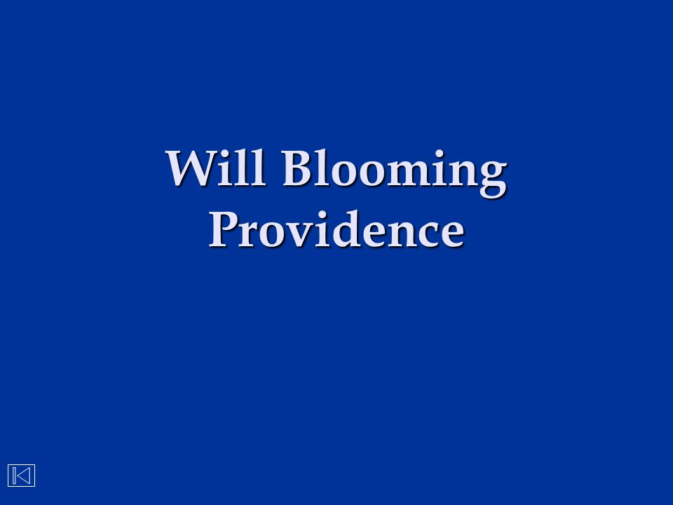 Will Blooming Providence