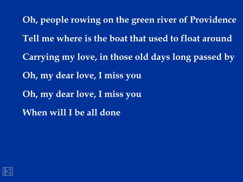 Oh, people rowing on the green river of Providence